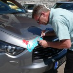 careful preparation and application car stickers.