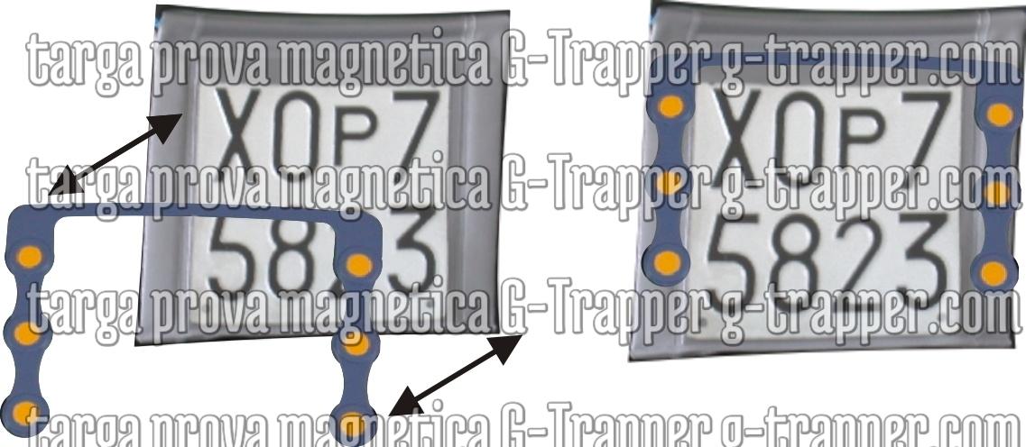 porta targa prova magnetizzati G - Trapper Finalmente una soluzione per tutti i possessori di targa prova g-trapper.com g-trapper.com